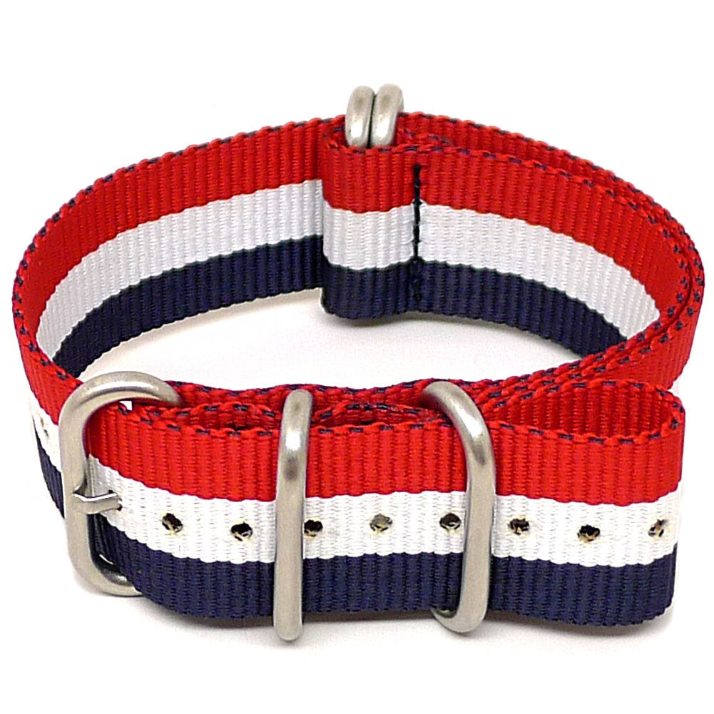 Canvas Nato Red White Blue - 20mm