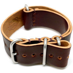 American Made Dual Outdoor Leather Strap - Shell Cordovan Brown
