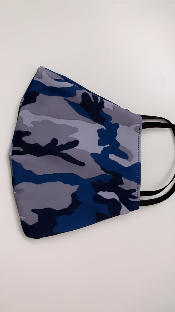 Dark Blue Camouflage Mask