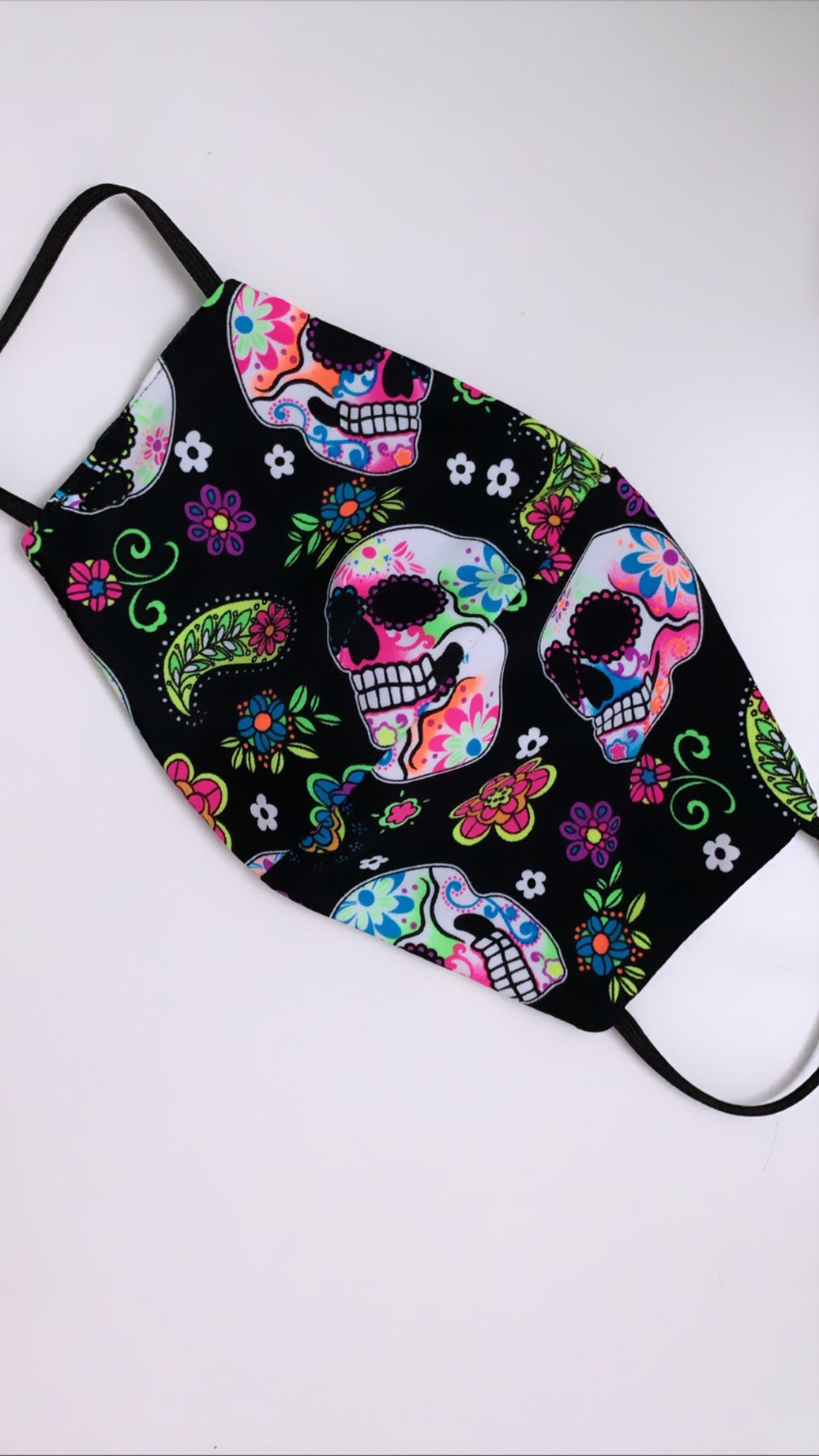 Calavera Black Mask