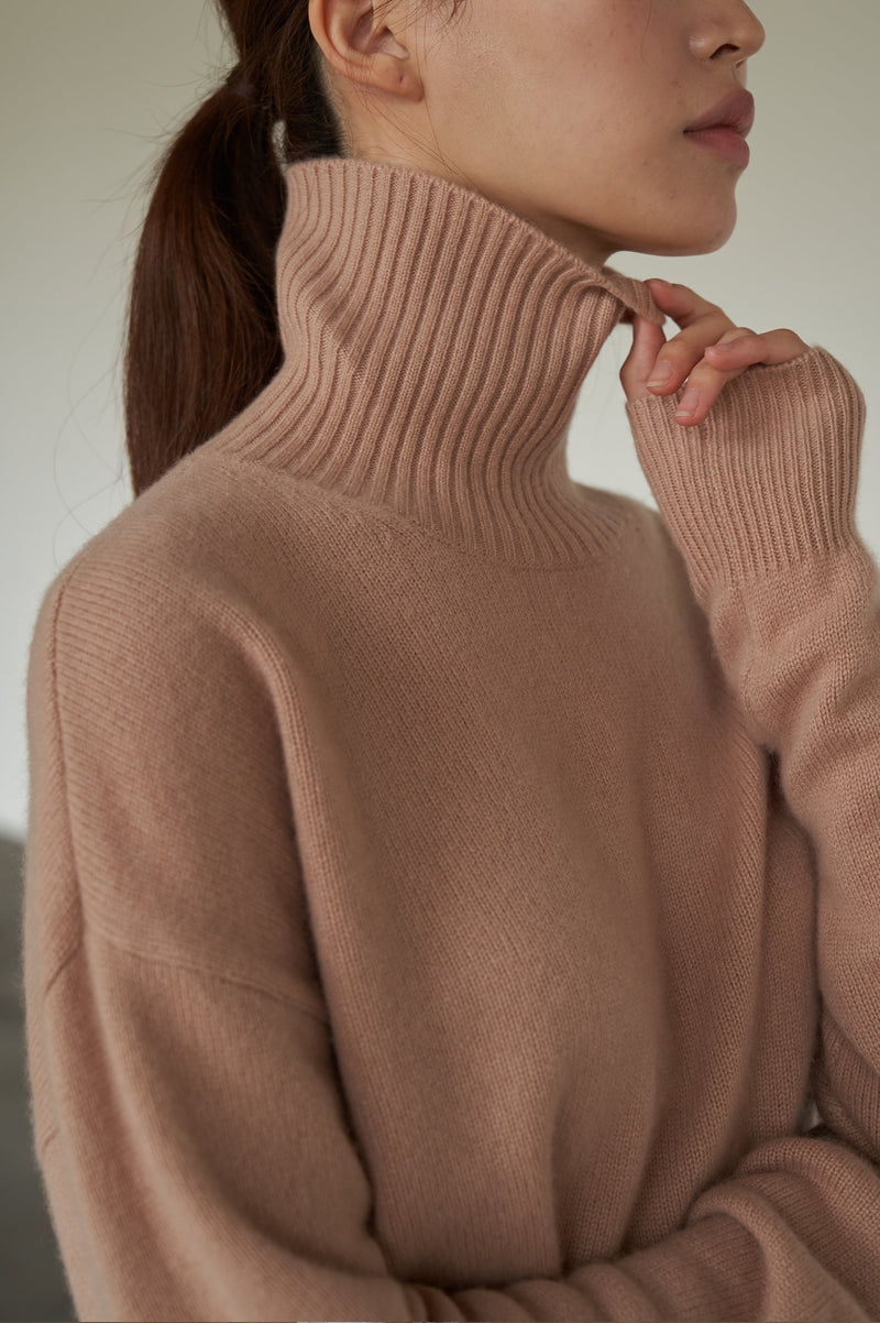 THE CARAMEL TURTLE NECK