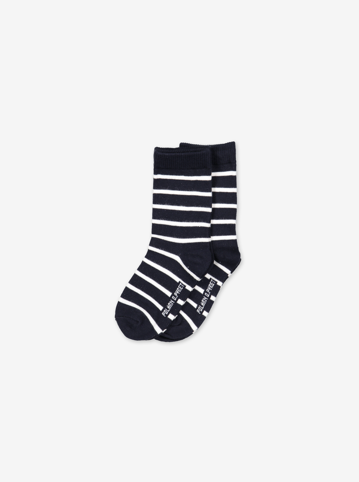 Kids 2 Pack Striped Socks Navy Unisex 2-12y