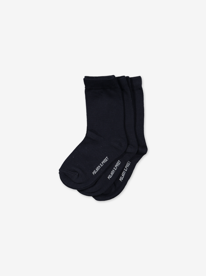 3 Pack Kids Socks Navy Unisex 2-12y