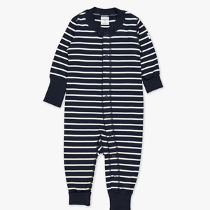 PO.P Stripe Baby All-In-One Navy Unisex Preterm-2y
