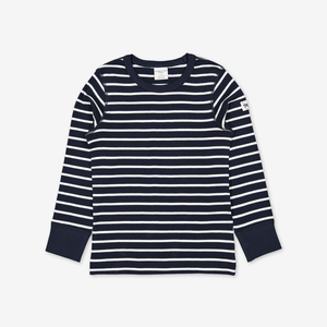 PO.P Stripe Kids Top Navy Unisex 2-12y