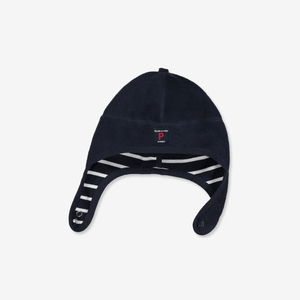 Wind Fleece Baby Hat---Navy---Unisex---1m-2y