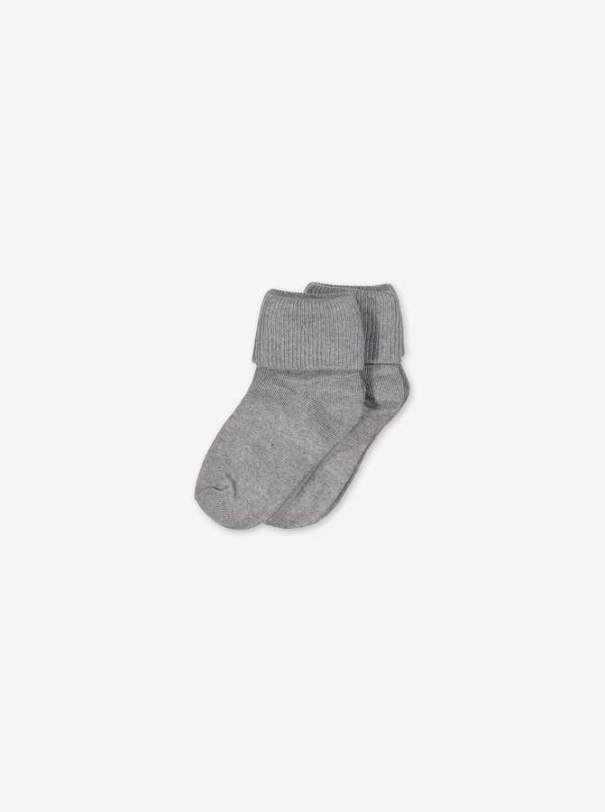 Socks In Pack Of 2 Grey Unisex 0-4m