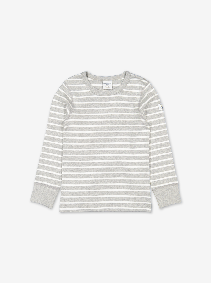 PO.P Stripe Kids Top Grey Unisex 2-12y
