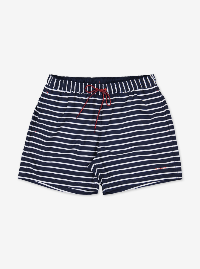 Striped Adult Swim ShortsNavyAdultS -L