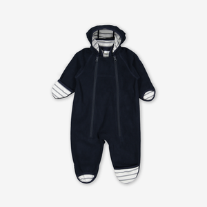 Windproof Fleece Baby Pramsuit-Unisex-Blue-0-1y