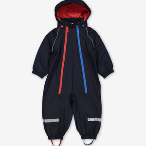 Waterproof Shell Fleece Lined Baby Overall-Unisex-Blue-6m-2y