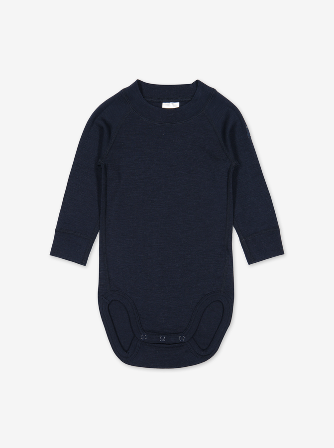 Thermal Merino Baby Bodysuit---Navy---Unisex---0-2y