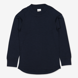 Thermal Merino Kids Top---Navy---Unisex---6m-12y