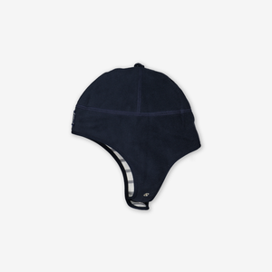 Wind Fleece Baby Hat---Navy---Unisex---1-12m