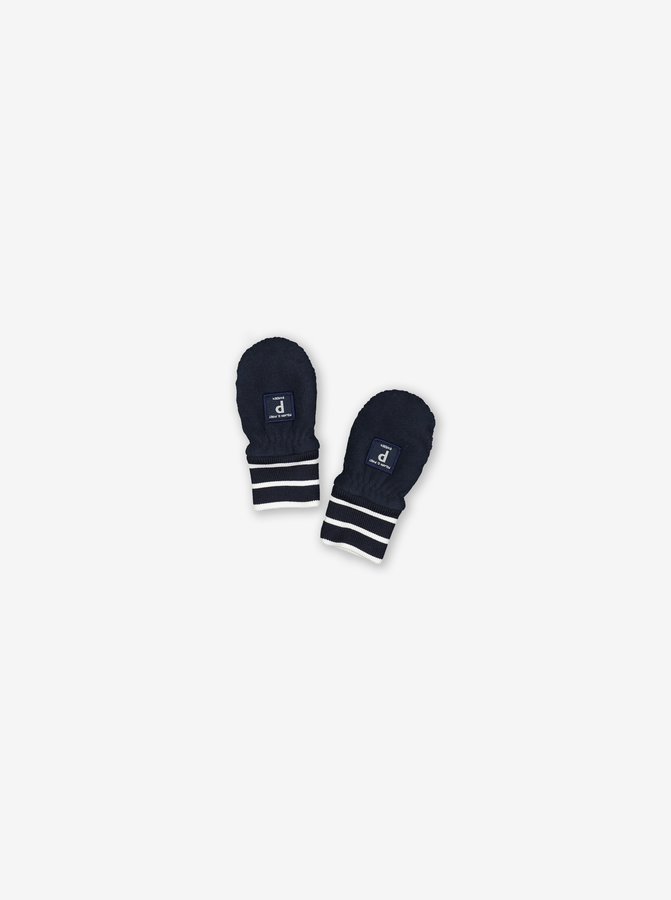 Fleece Baby Mittens-Unisex-Blue-0-2y