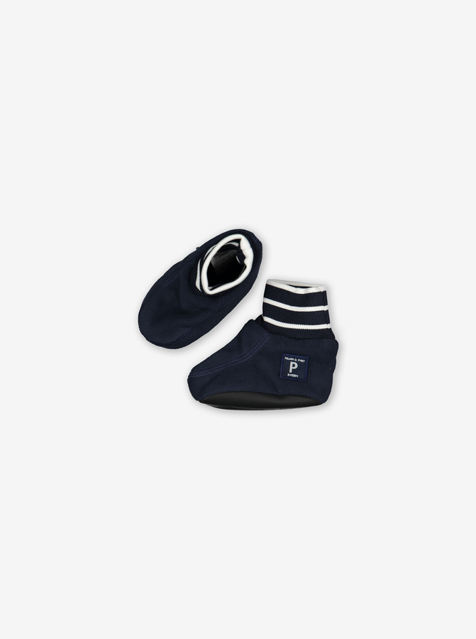 Fleece Baby Booties---Navy---Unisex---1-12m