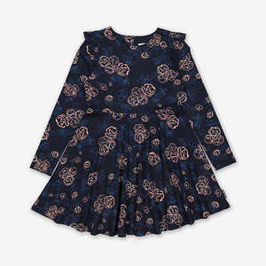 Rose Print Kids Dress