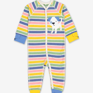 Puppy Appliqu㉠Baby Romper