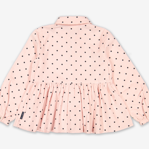 Polka Dot Corduroy Kids Blouse
