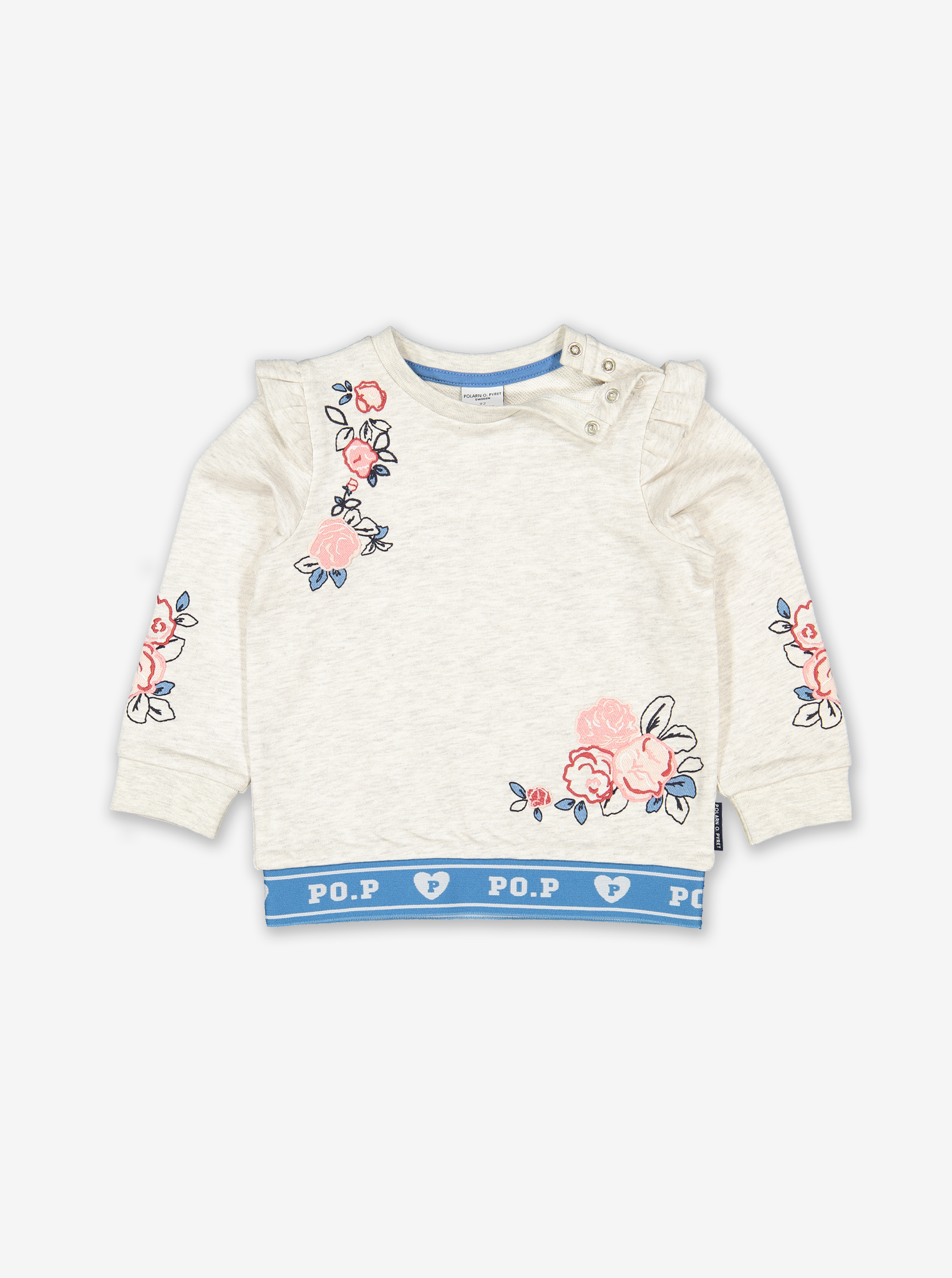 Floral Embroidery Kids Sweatshirt
