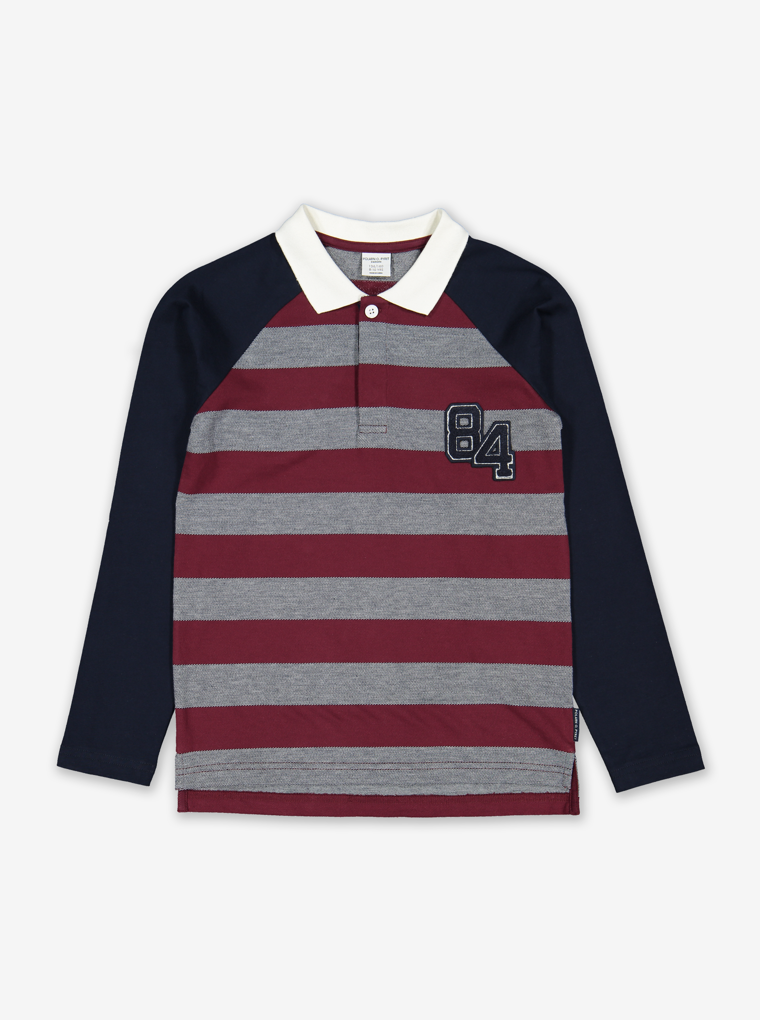 Striped Long Sleeve Kids Polo
