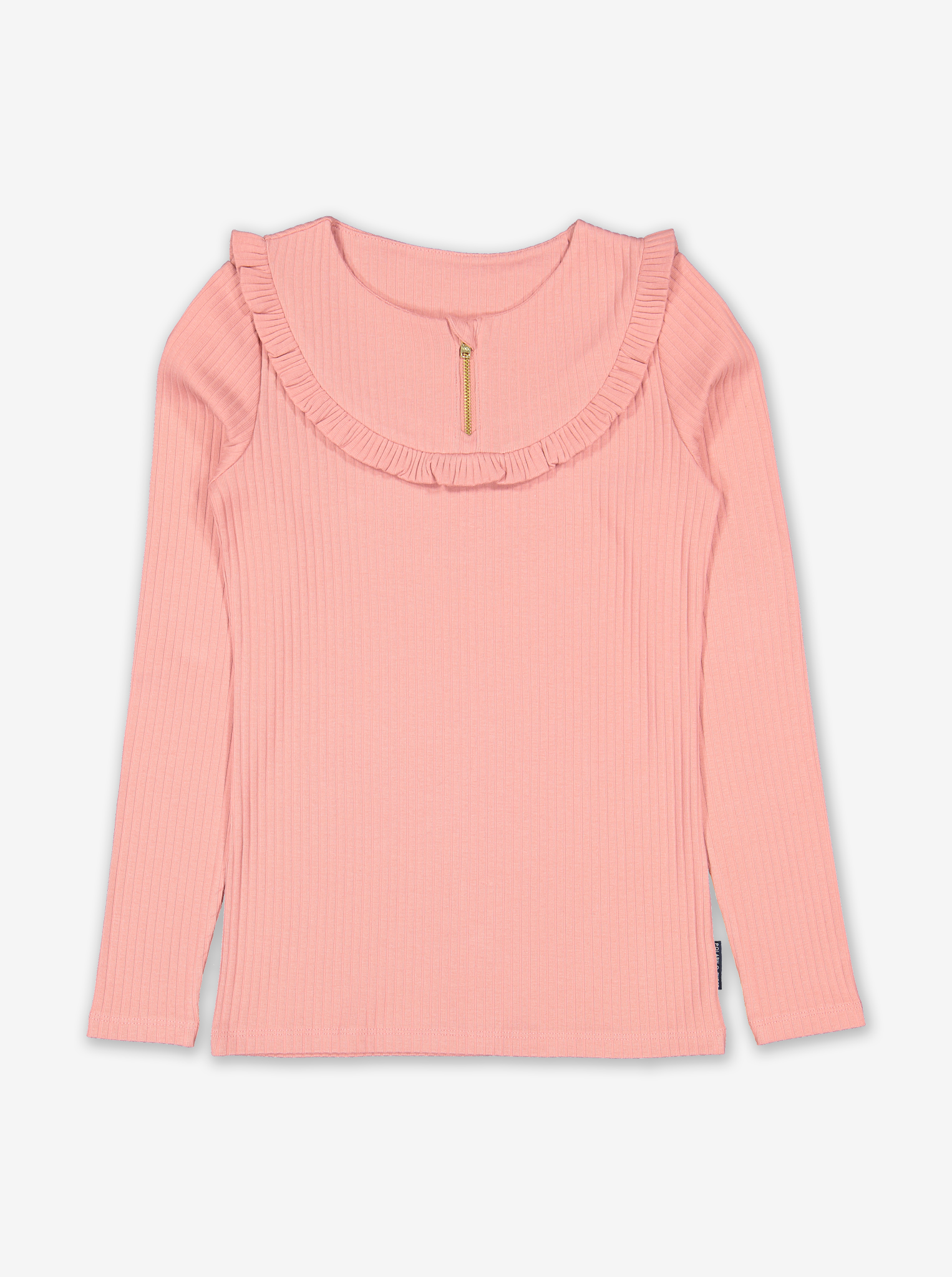 Ribbed Ruffle Kids Top