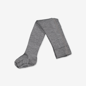 Merino Antislip Kids Tights---Grey---Girl---0-8y