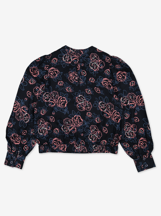 Rose Print Kids Blouse
