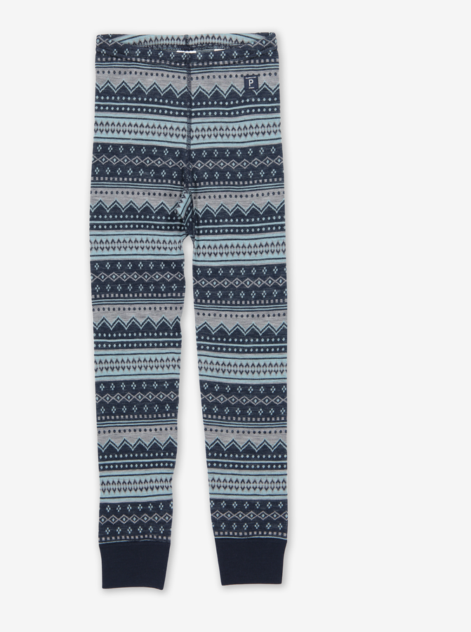 Fairisle Thermal Merino Kids Long Johns