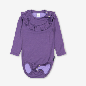 Cotton Lined Merino Baby Bodysuit