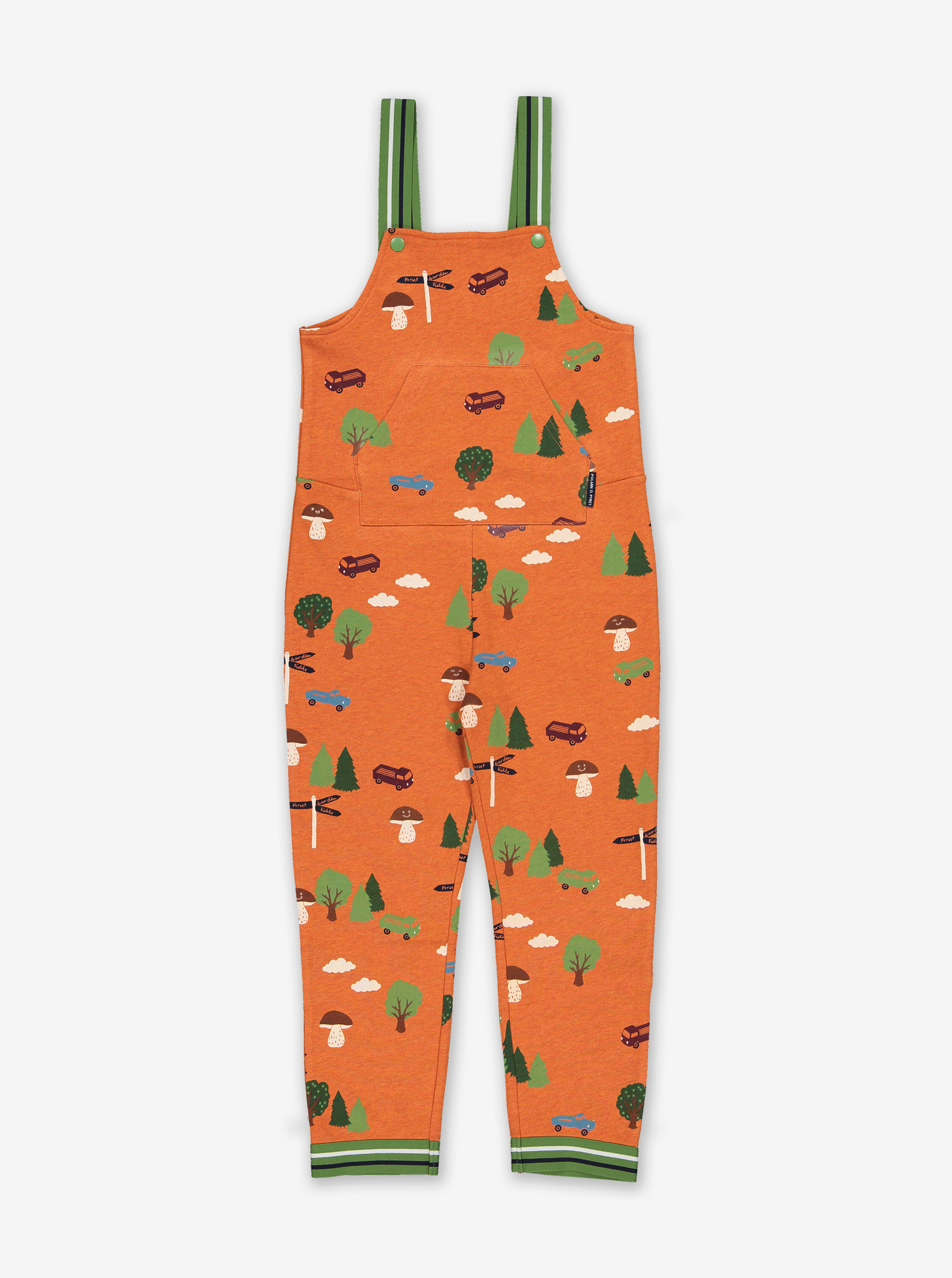 Scandi Forest Kids Dungarees Red