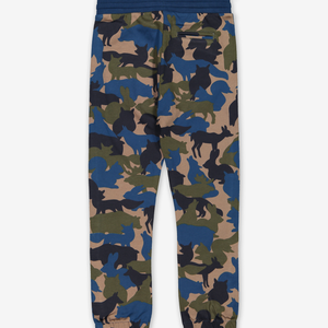 Animal Camo Kids Joggers Blue