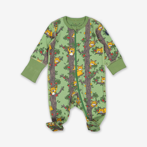 Sleepy Cat Baby Onesie Pyjamas Blue