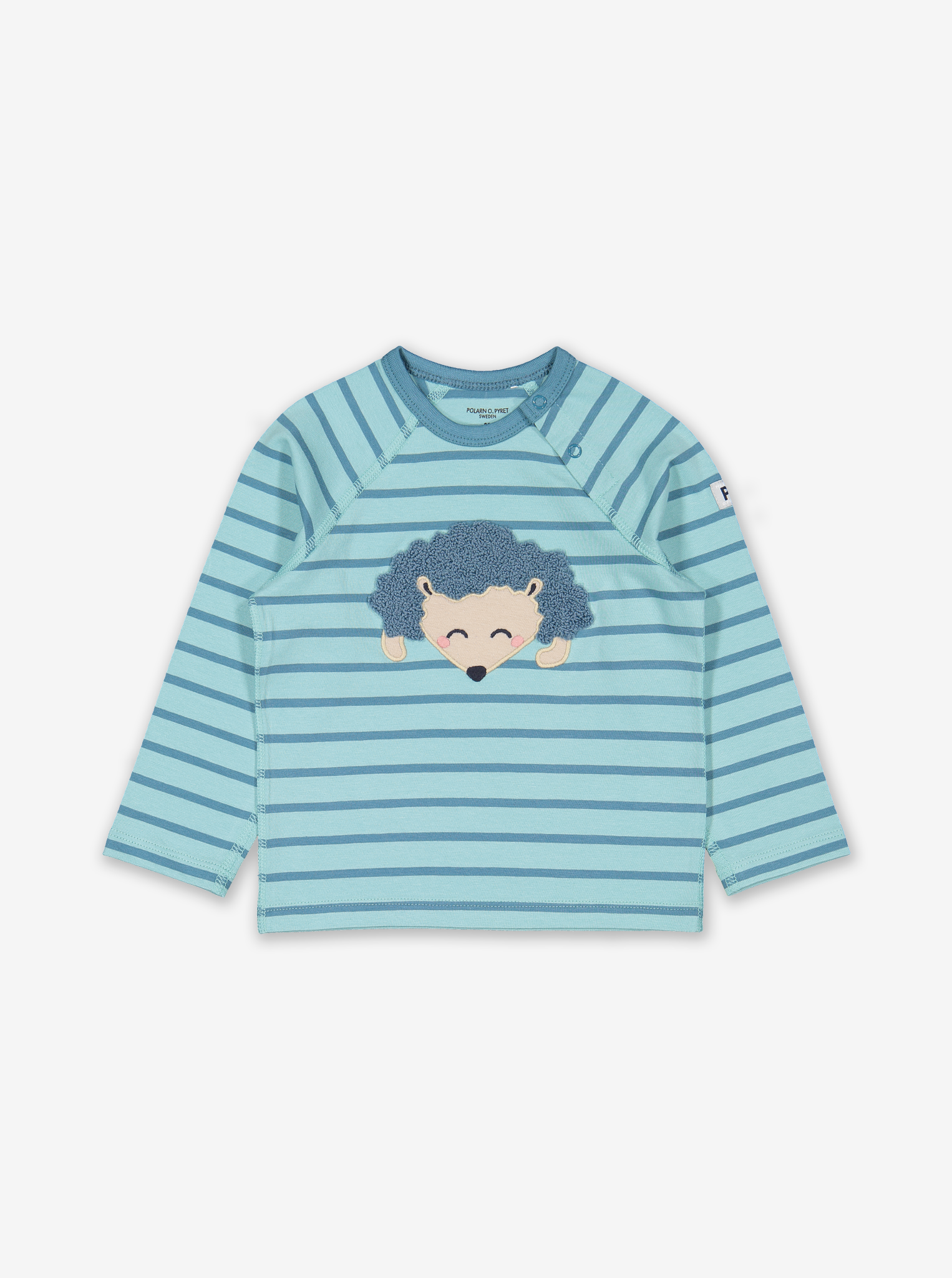 Appliqu㉠Hedgehog Baby Top Natural