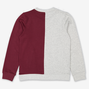Two-Tone Kids Sweatshirt White