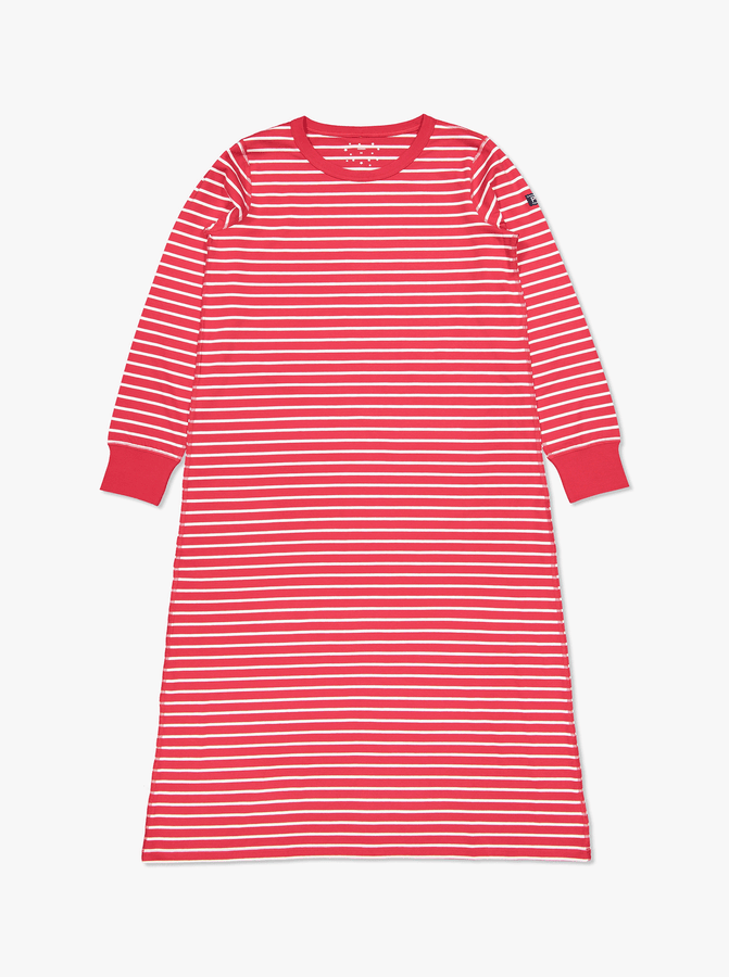 PO.P Stripe Adult NightdressRedAdultXS-XL