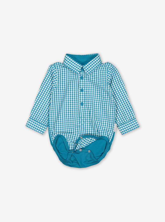 2-In-1 Baby Bodysuit Shirt Blue