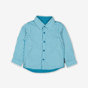 Checked Baby Shirt Blue