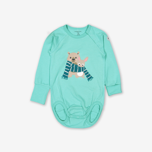Cosy Friends Baby Bodysuit Turquoise