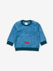 Deer Velour Baby Top Blue