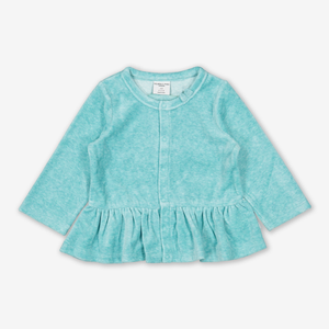 Rabbit Velour Baby Top Turquoise