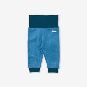 Velour Baby Trousers Blue