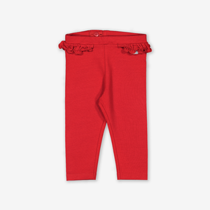 Ruffle Baby Leggings Red