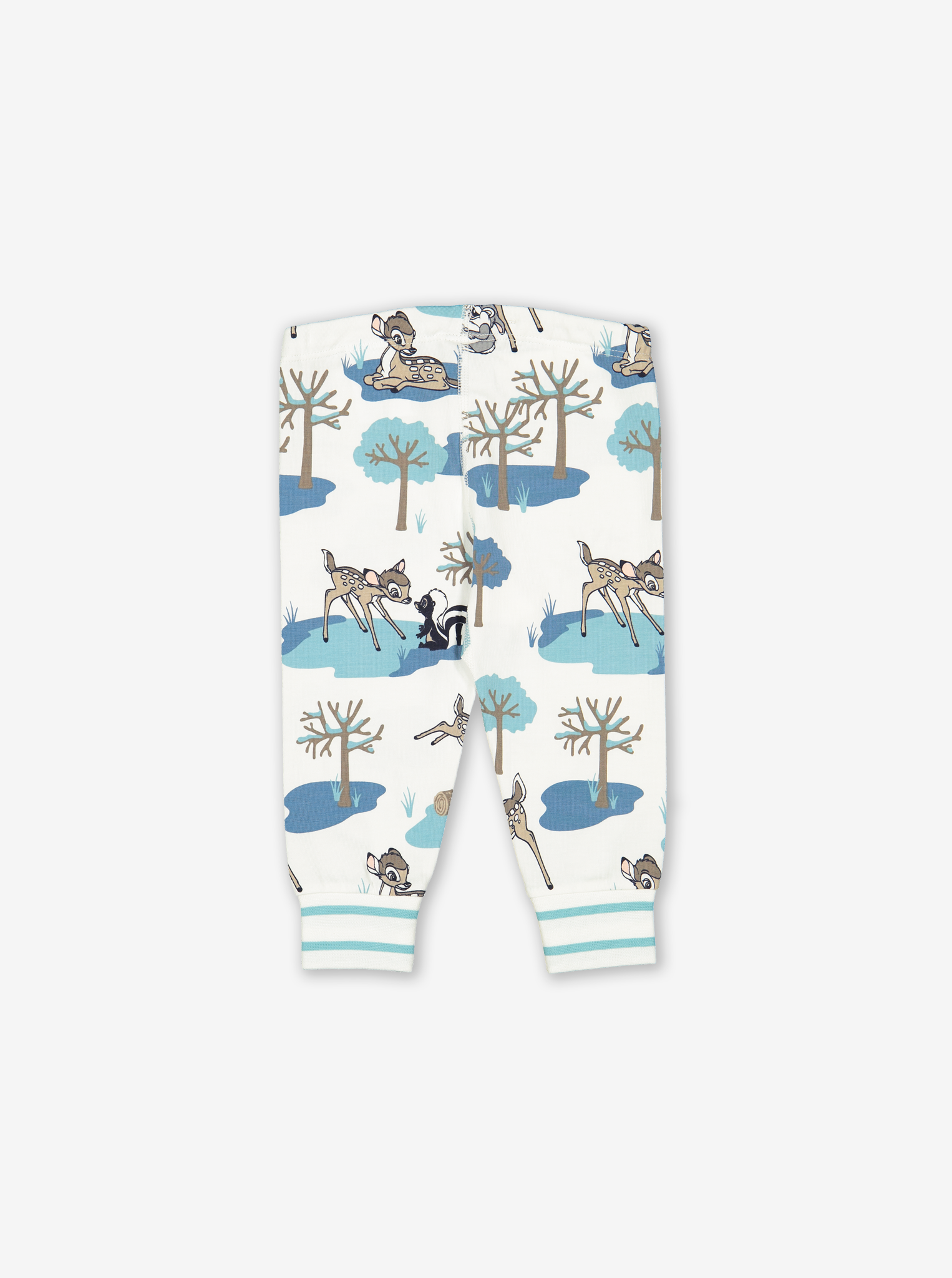 Bambi Print Baby Trousers Turquoise