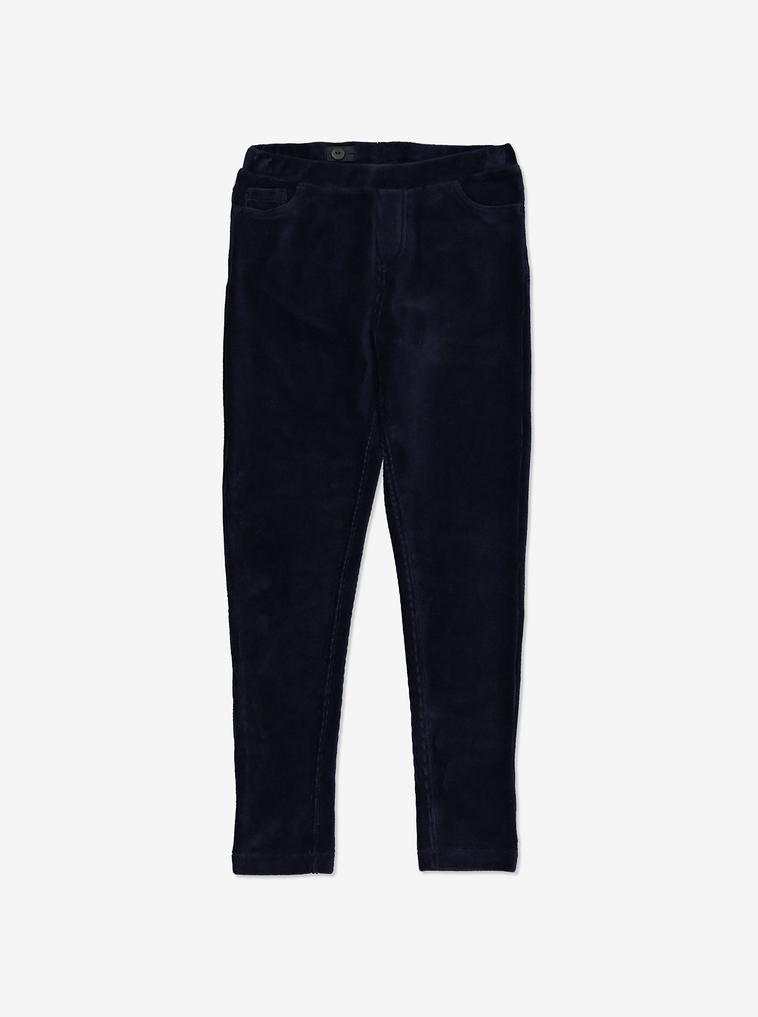 Velour Cord Leggings Blue