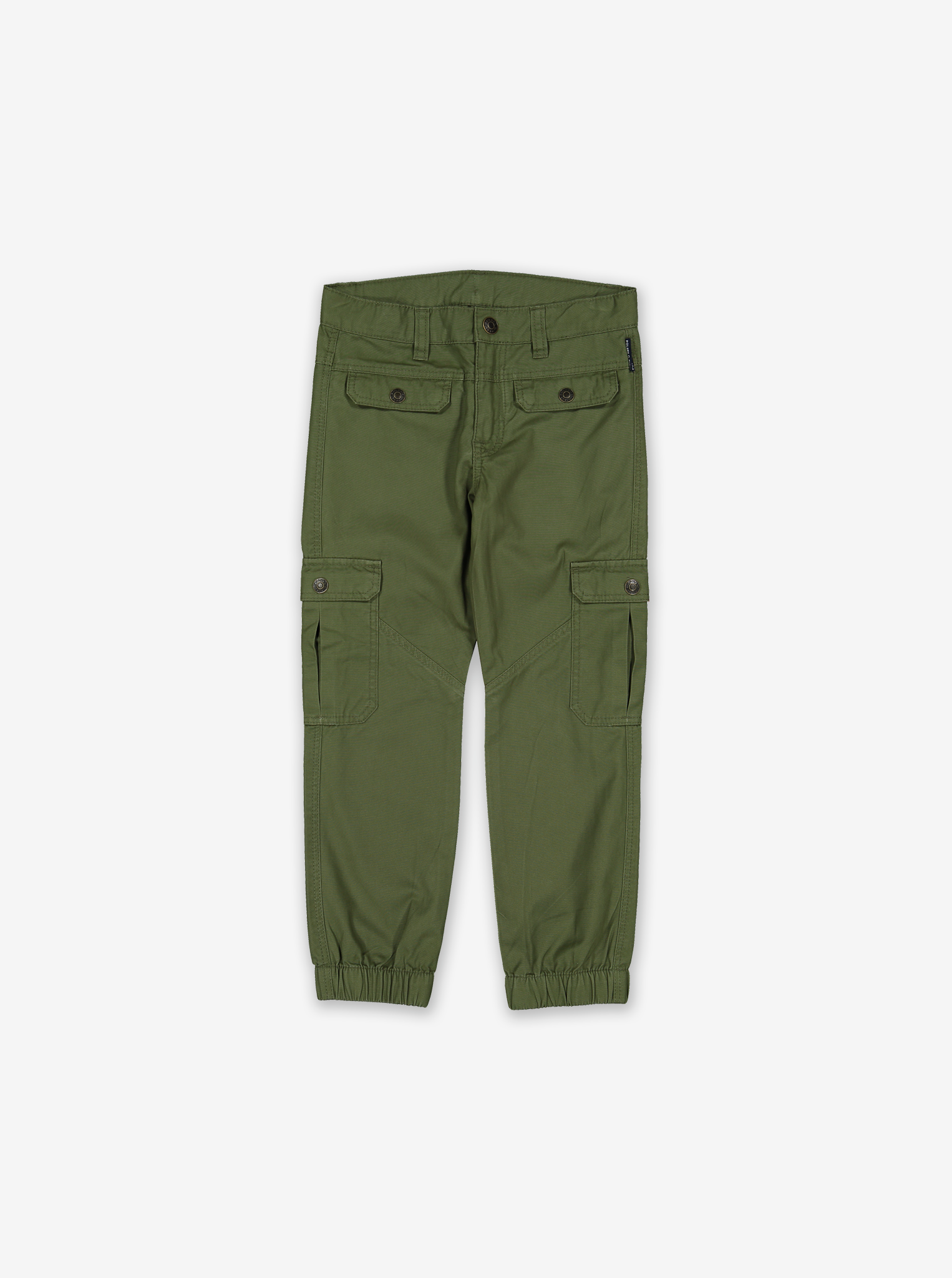 Kids Cargo Trousers-Boy-1-12y-Green