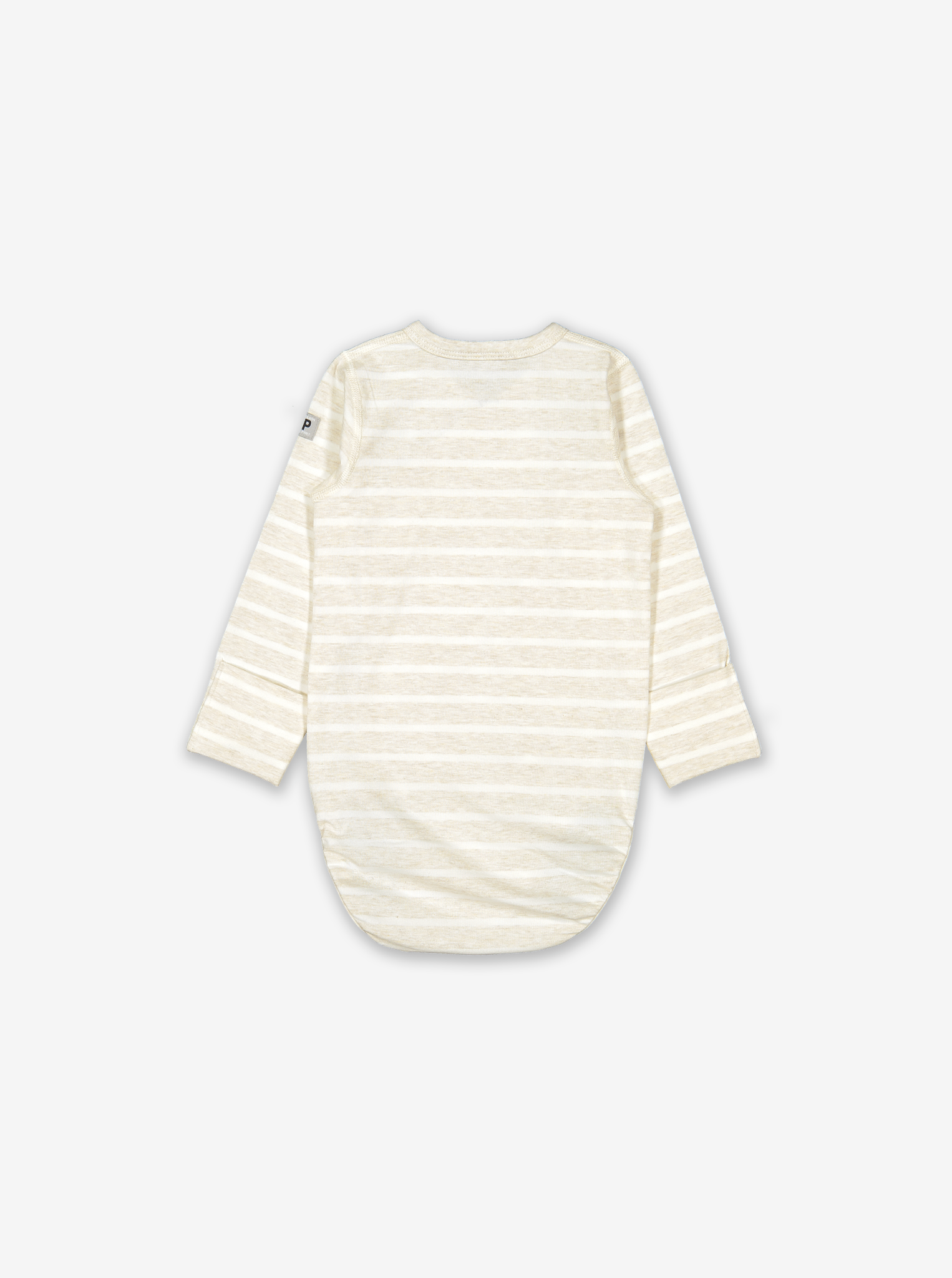 Striped Balloon Wraparound Baby Bodysuit-Unisex-0-6m-White