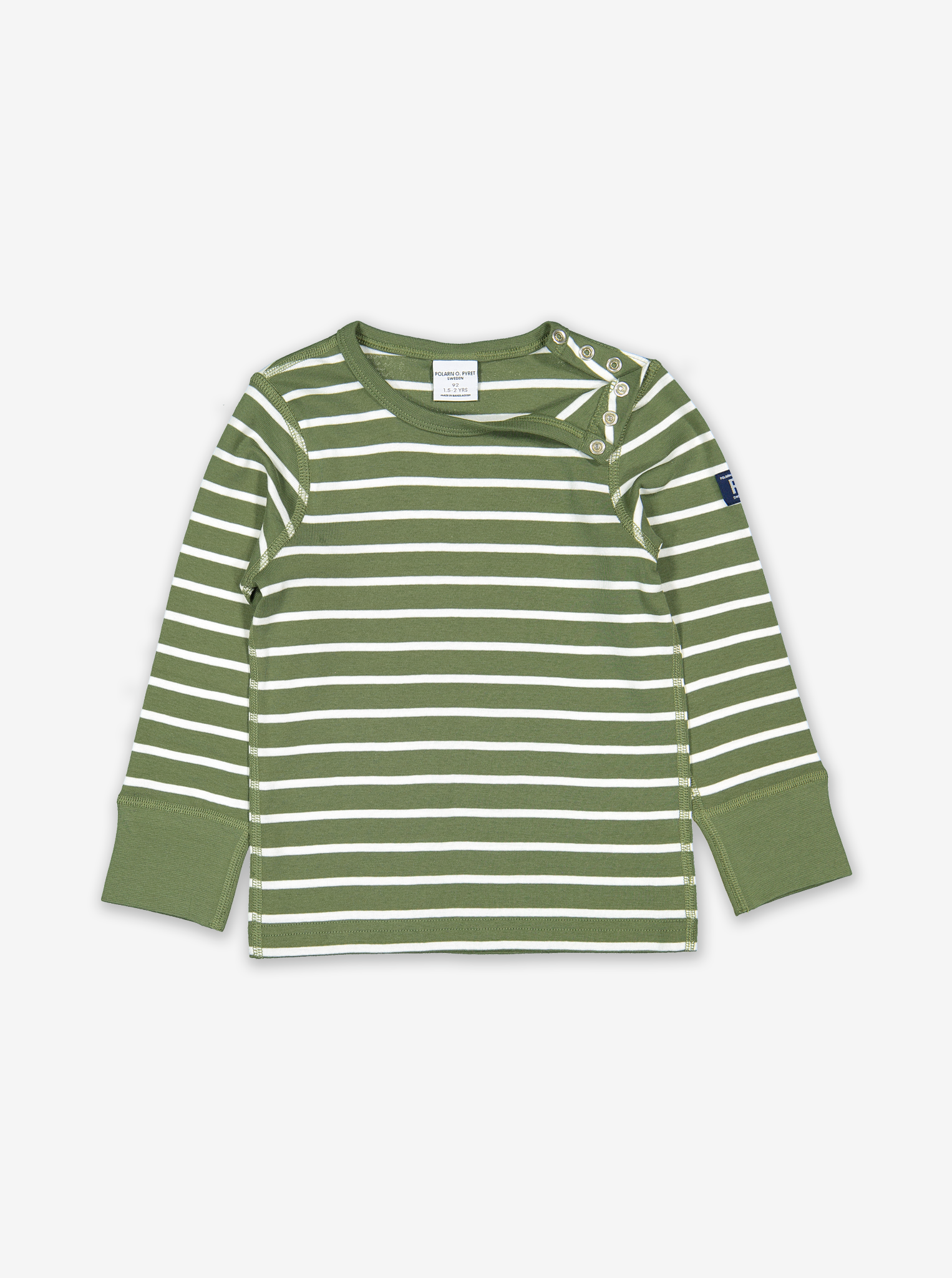 Striped Kids Top-Unisex-1-6y-Green