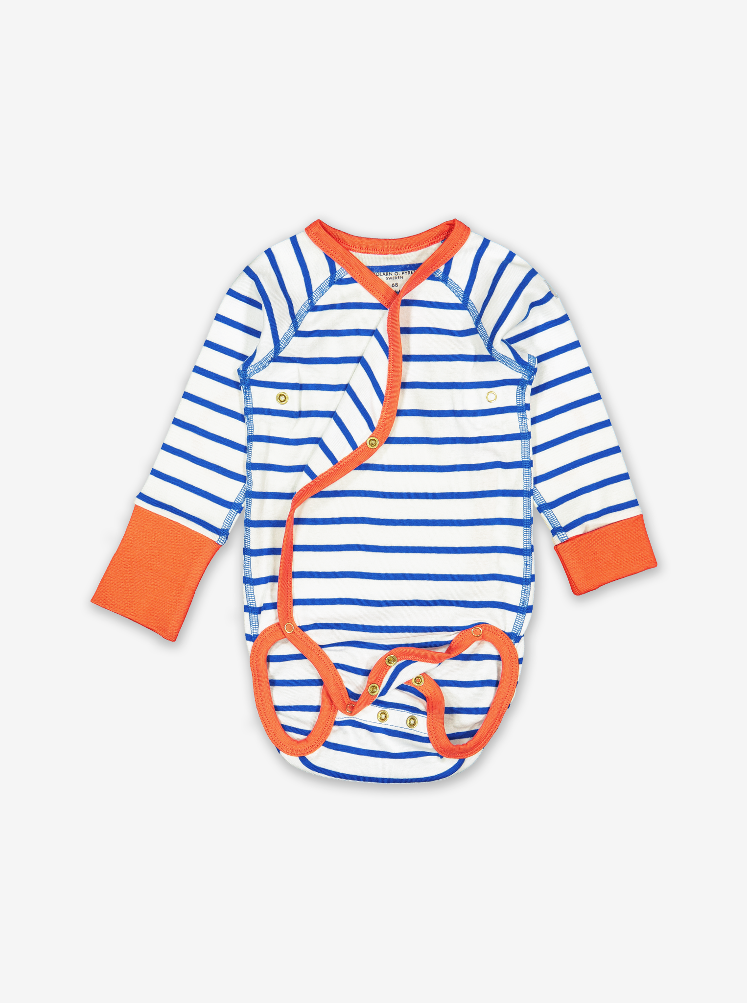 Striped Baby Top-Unisex-0-1y-White