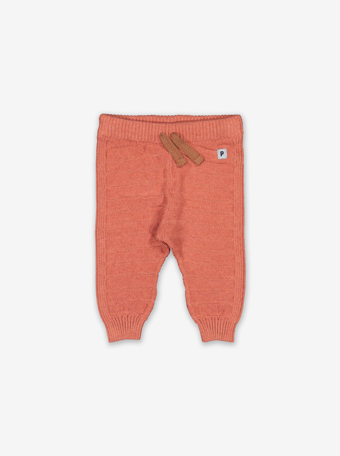 Scandi Knitted Baby Joggers-Unisex-0-1y-Orange